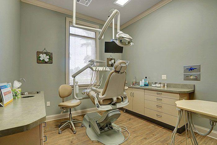 clean dental exam room