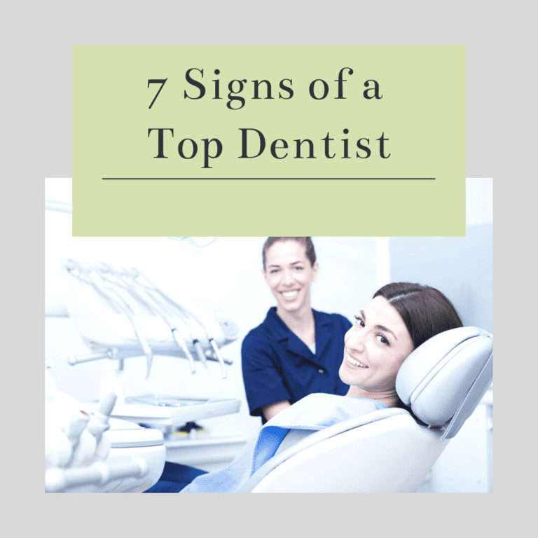 "Title banner for ""7 signs of a top dentist"""